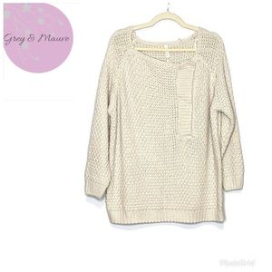 Wishlist Cream Chunky Knit Oversized Sweater